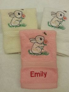 RABBIT PERSONALISED FACE CLOTH